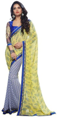 Friendlyfab Printed Fashion Georgette Sari