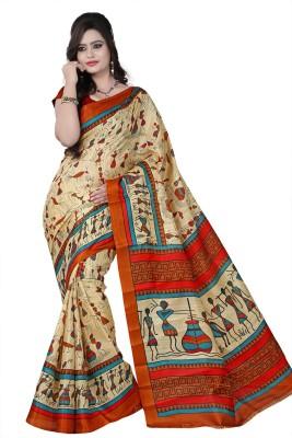 Raj Creative Printed Bhagalpuri Handloom Silk Sari