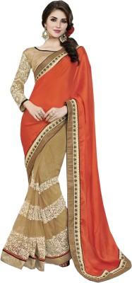 Fashion4masti Embriodered Bollywood Chiffon Sari