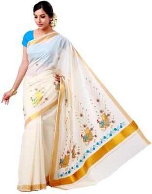 Adt Saral Self Design Balarampuram Handloom Cotton Sari