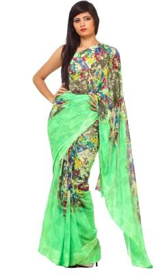 365 Labels Floral Print Bollywood Crepe Sari