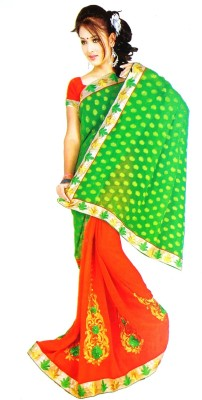 Coloursexports Embellished Bollywood Brasso Fabric Sari