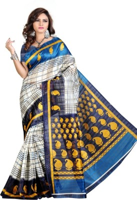 Manvar Enterprise Embriodered Bhagalpuri Georgette Sari