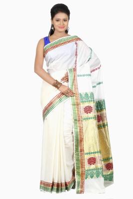 B3Fashion Woven Mundum Neriyathum Cotton Sari