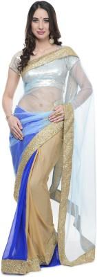 Aarohii Plain Bollywood Net, Georgette Sari