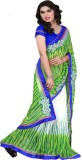 Happyshop Printed Bollywood Chiffon Sare...