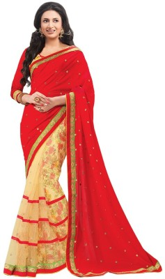 Fabaron Enterprise Self Design Bollywood Chiffon Sari