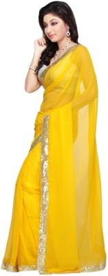 Zenny Creation Solid Fashion Net Sari