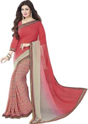 A1V Enterprise Printed Bollywood Chiffon, Printed Silk Sari