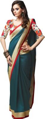 Rajhans Fashion Embellished Fashion Raw Silk Sari