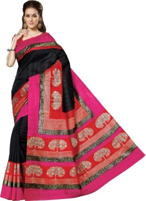 Padam Shree Printed Bhagalpuri Handloom Printed Silk Sari