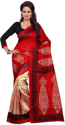 She Fashion Printed Bollywood Art Silk Sari