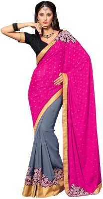 Manvaa Embriodered Fashion Pure Georgette Sari
