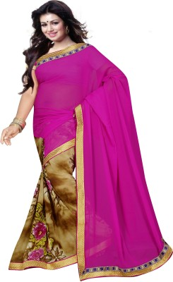 Dharmeshkumar Embellished Fashion Georgette Sari