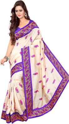 Rekha Sarees Embriodered Chanderi Chanderi Sari