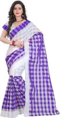 VardhitaFashion Self Design Fashion Silk Cotton Blend Sari