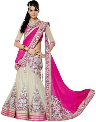 Sunita Sarees Striped Lehenga Saree Georgette Sari