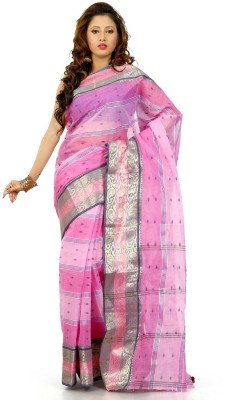 Madhushree Textiles Embriodered Tant Handloom Cotton Sari