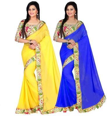 bhuwal fashion Floral Print Bhagalpuri Art Silk Sari