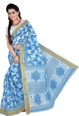 Vastrakala Floral Print Gadwal Cotton Sari