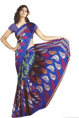 Nidhi Collection Printed Fashion Satin Sari