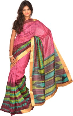 Jagadamba Checkered Bhagalpuri Silk Sari