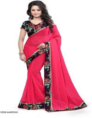 ambey shree trendz Graphic Print Hand Batik Georgette Sari