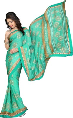 Chaand Plain Fashion Synthetic Crepe Sari