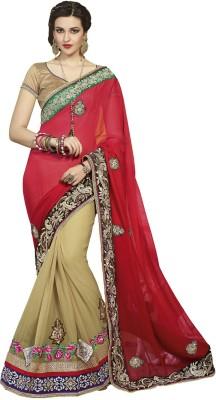 Padam Shree Embriodered Fashion Handloom Net, Pure Georgette Sari