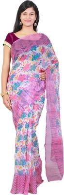 Fashion Boutique Floral Print Fashion Net Sari