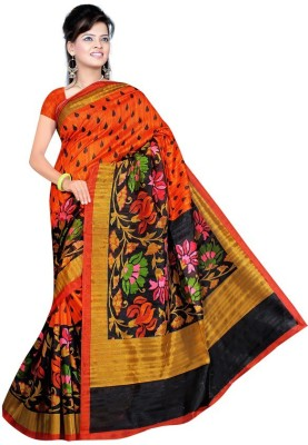 Being Feminine Printed Bhagalpuri Handloom Chanderi Sari