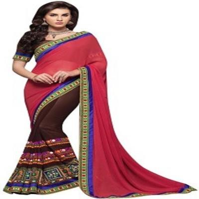 Adah Fashions Embriodered Fashion Georgette Sari
