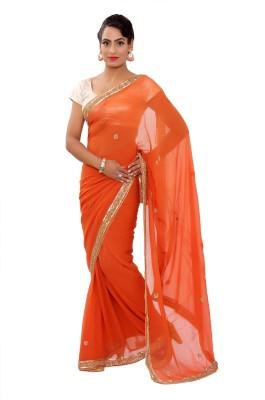 Shri Narayan Fashions Plain Fashion Georgette Sari