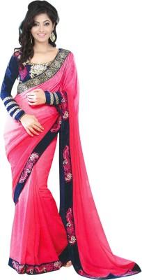 Jiya Fashion Embriodered Fashion Georgette Sari