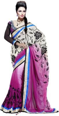 MahotsavSarees Embriodered Fashion Georgette Sari