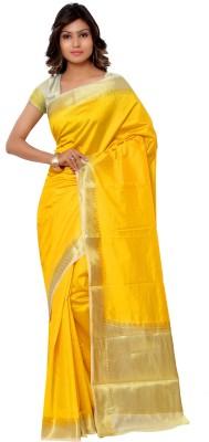 Varkala Silk Sarees Woven Kanjivaram Handloom Raw Silk Sari