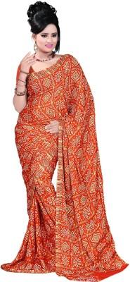 Vogue Era Self Design Bandhani Crepe Sari