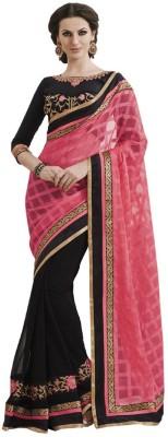 MatindraEnterprise Self Design Fashion Handloom Chiffon Sari