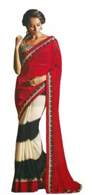 Fashionista Embriodered Fashion Chiffon Sari