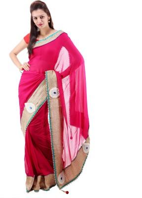 Ashutosh Fashion Embellished Fashion Georgette Sari