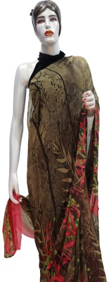 sakshi creations Printed Daily Wear Synthetic Georgette Sari