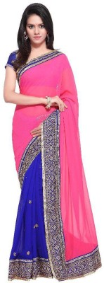 manjula feb Embriodered Mysore Georgette Sari
