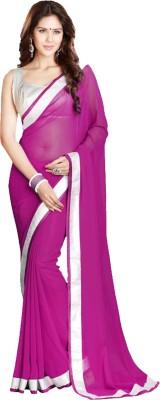 New Look Fashion Plain Fashion Georgette Sari