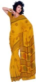 Sunaina Printed Cotton, Silk Saree (Yell...