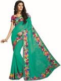 Vishal Solid Fashion Georgette Saree (Gr...