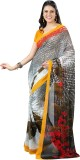 Vibes Printed Fashion Georgette Saree (G...