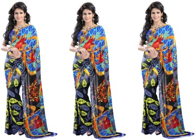 Stylobby Striped Daily Wear Georgette Sari