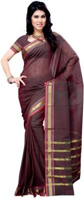 Fabdeal Solid Fashion Cotton Sari