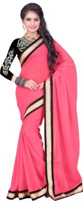 Krishnafashion777 Self Design Bollywood Handloom Chiffon Sari