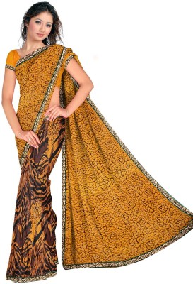 V Star Printed Daily Wear Georgette Sari